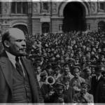 لنین در میدان سرخ سال 1922