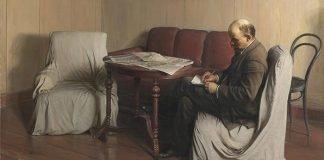 ویژه هنر انقلابی تابلوی لنین اثر برودسکی